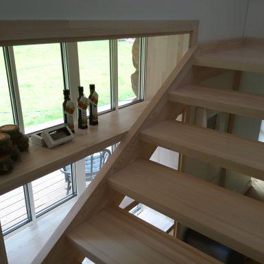 Laiptai, lentynos, palangės